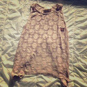 Lace netted tank top